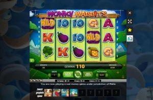 Online Casinospiel Wonky Wabbits (Slots)