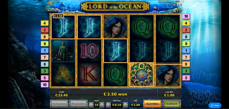 Online Casino Test des Slots Lord of the Ocean im Quasar Casino