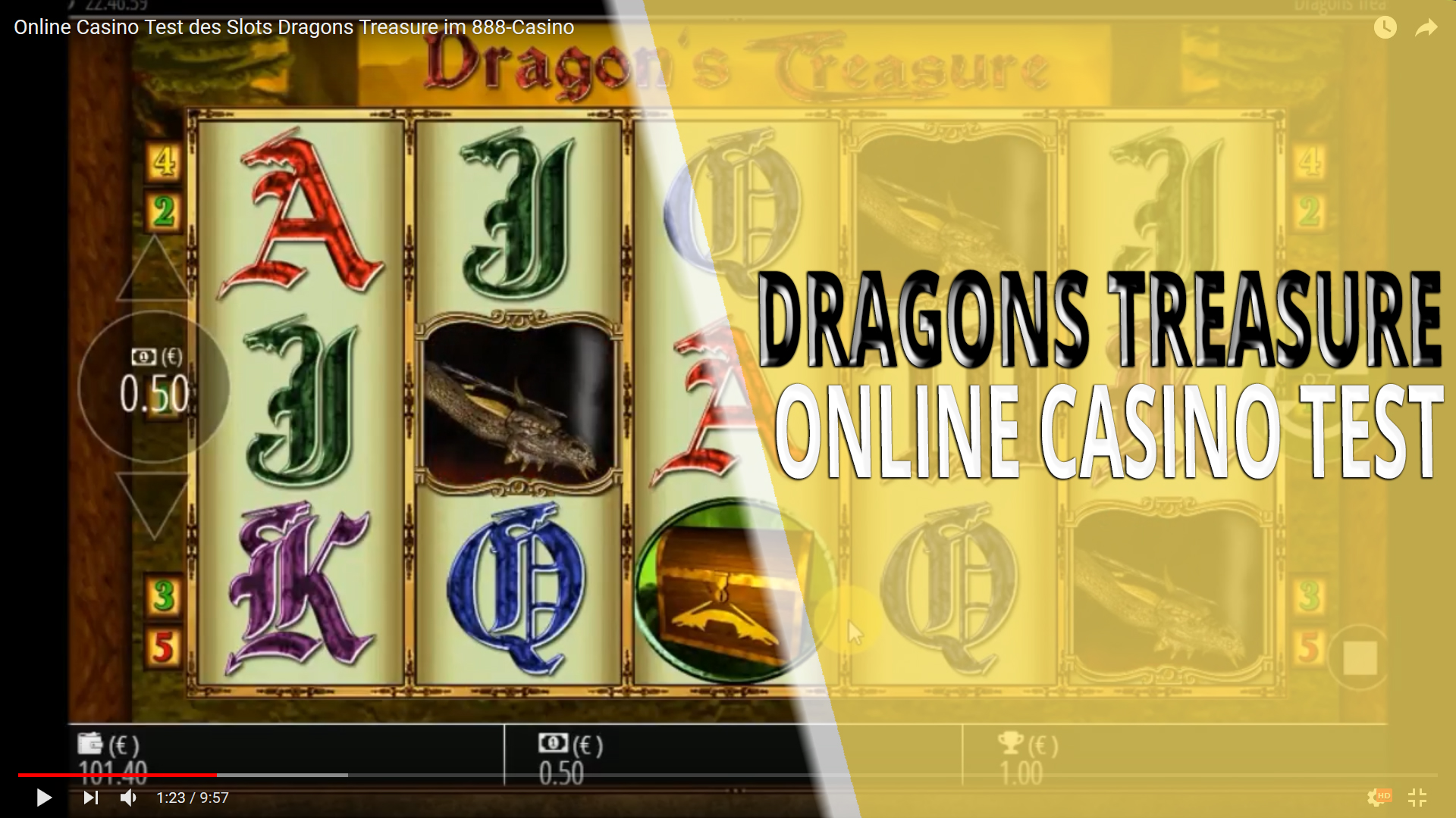 Automatenspiel Slots - Dragons Treasure
