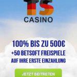TS Casino Bonus Code TS100
