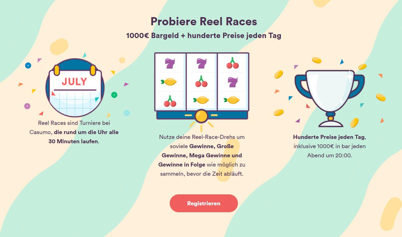 Casumo Slots Reel Race